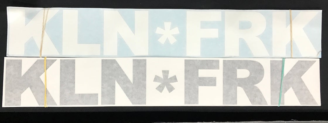 Image of New KLN*FRK large windscreen stickers