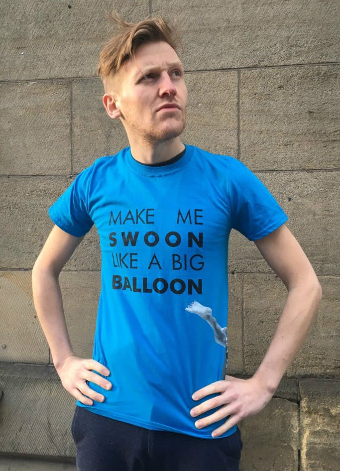 Image of Big Balloon Swoon T-Shirt - Blue