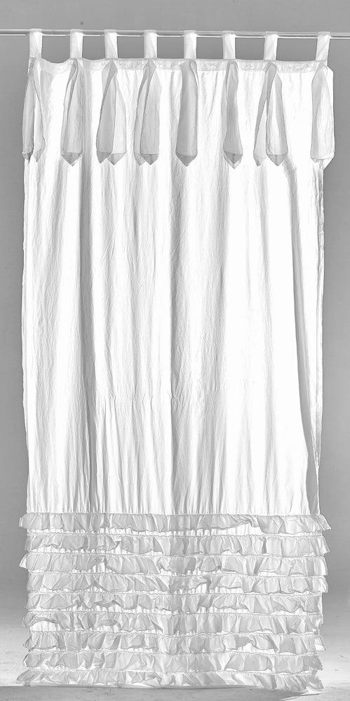 Image of Tenda Arte Pura con balze e laccetti in puro cotone