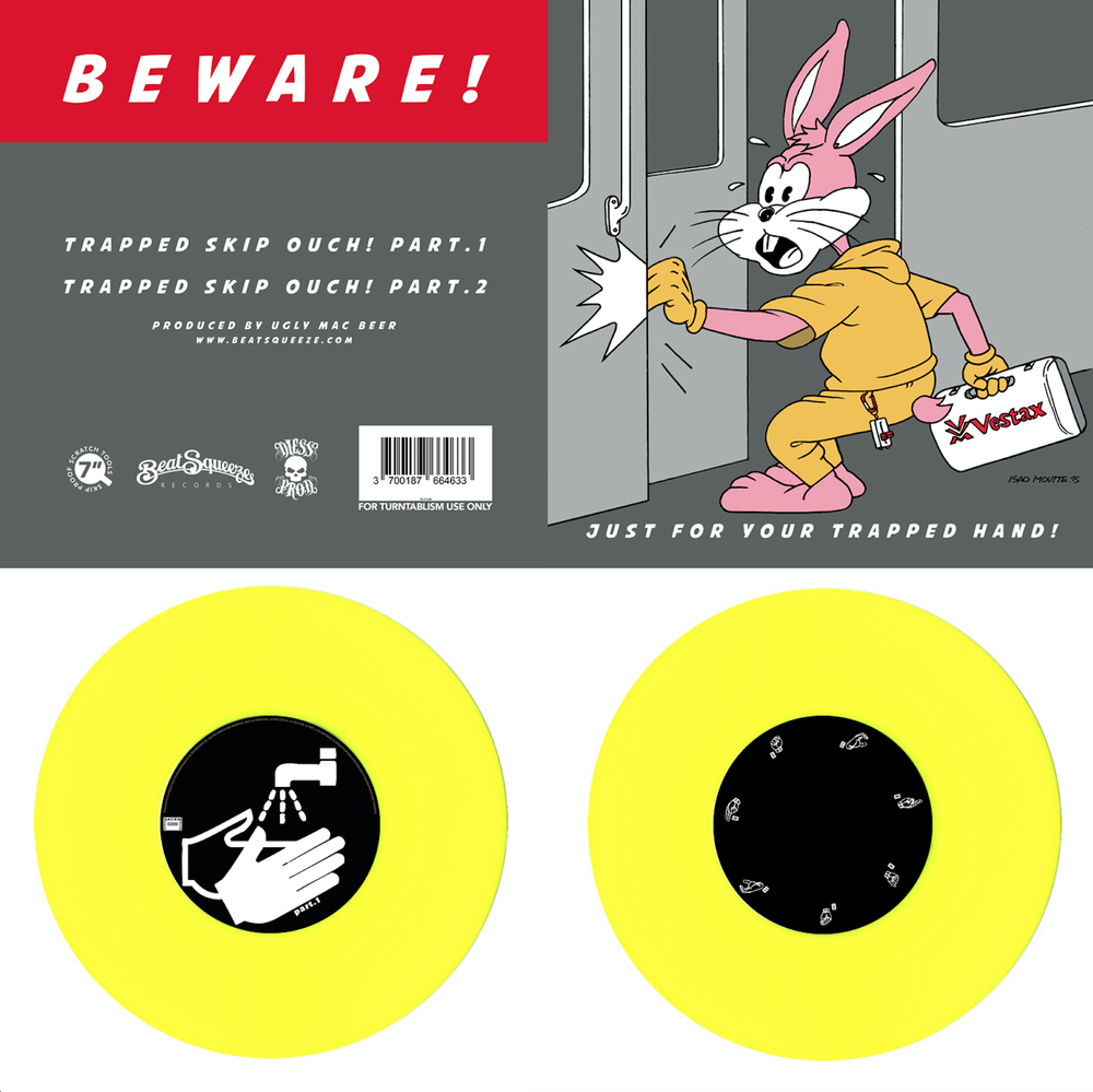 "Image of Just For Your Trapped Hand - Yellow 7"" Vinyl"