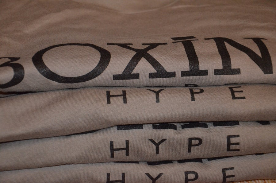 Image of Mens Gray BoxingHype CREWNECK tees