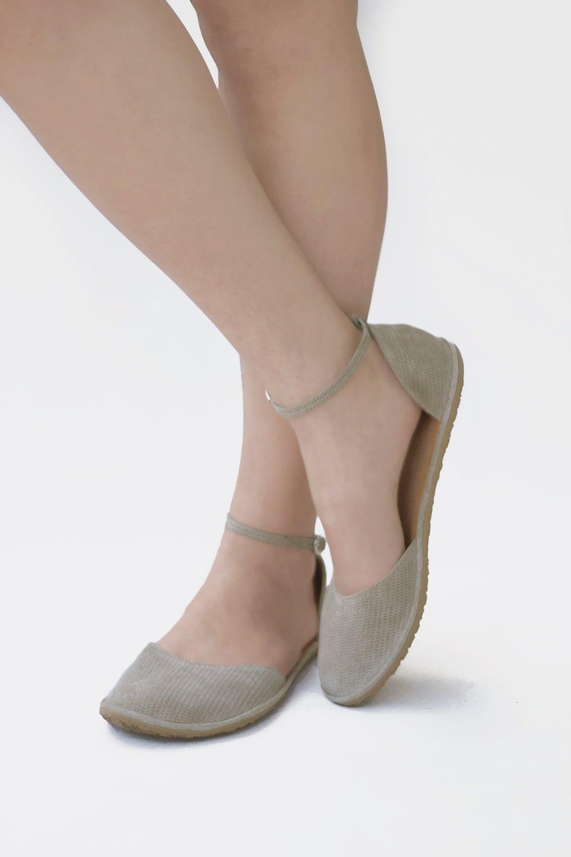 Image of Two-piece flat shoes - Ellie - Dress sandals