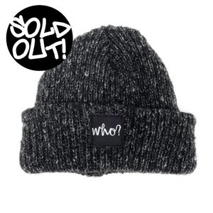 Image of BLACK FLECK BEANIE