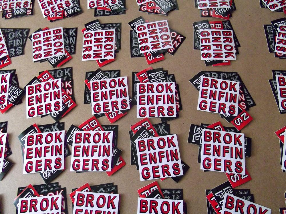 Image of Broken Fingers Sticker Pack!