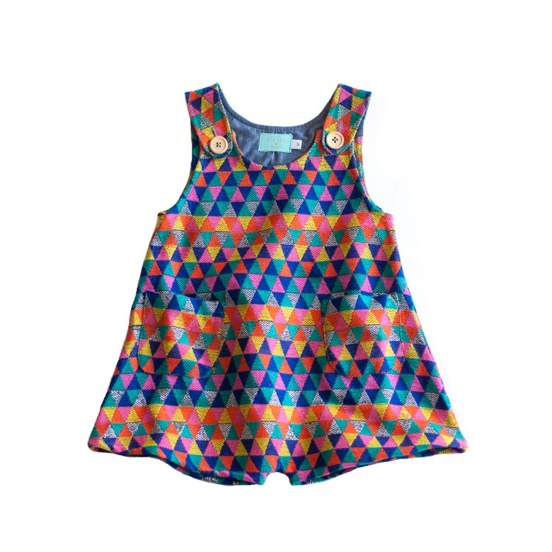 Image of Lucky Romper Triblue Jacquard