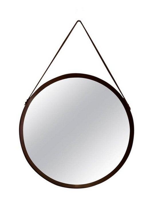 Image of Circular Teak Mirror, Italy