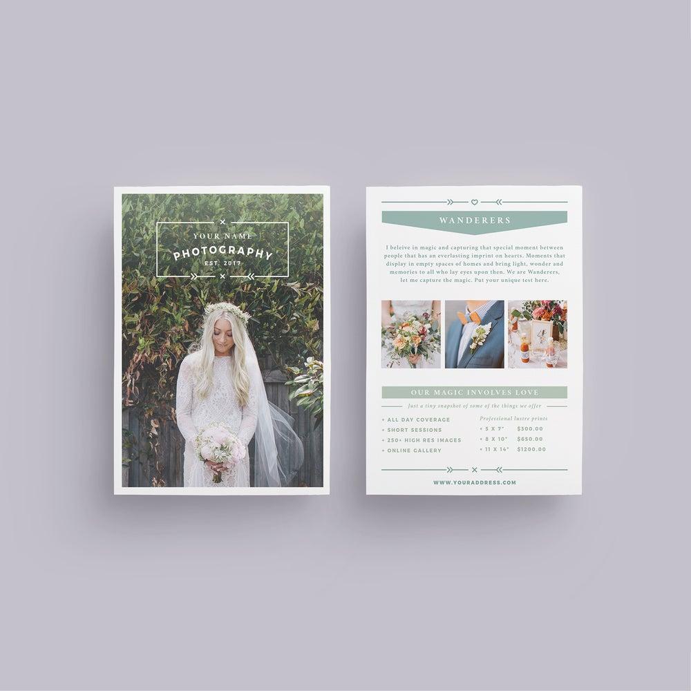 Image of WANDERERS Wedding Flyer Price List