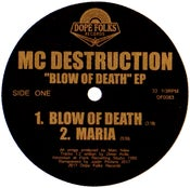 "Image of MC DESTRUCTION ""BLOW OF DEATH"" EP (Black Vinyl) PRE-ORDER"