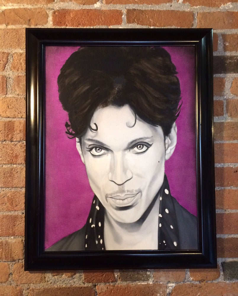"Image of ""Purple Reign (Prince) • Original Brian Broadway Painting"