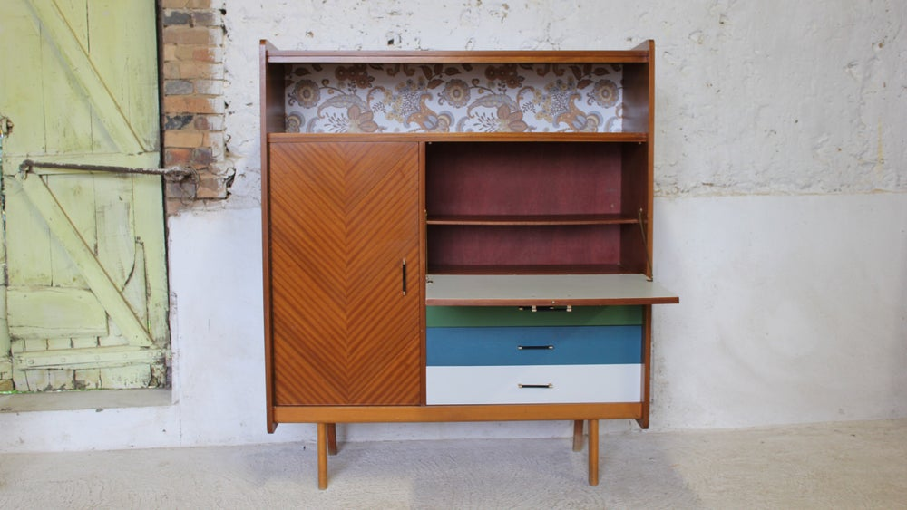 armoire meuble bar meuble bureau vintage fibresendeco vannerie artisanale mobilier. Black Bedroom Furniture Sets. Home Design Ideas