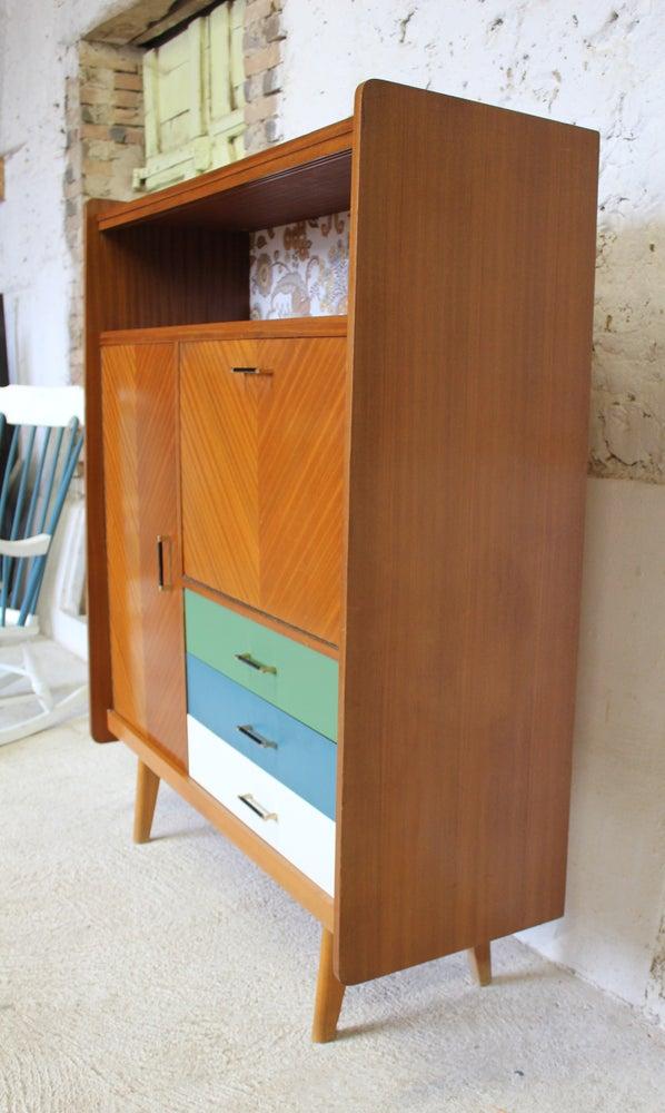 Image of Armoire - meuble bar - meuble bureau - Vintage