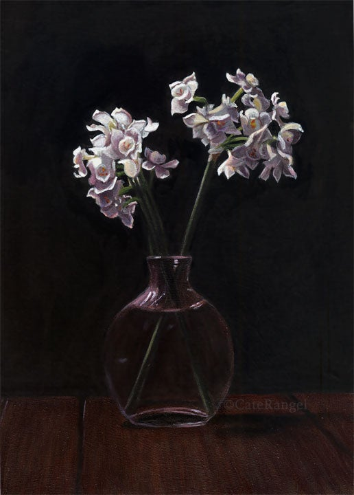 Image of Paperwhites - Framed Original Painting