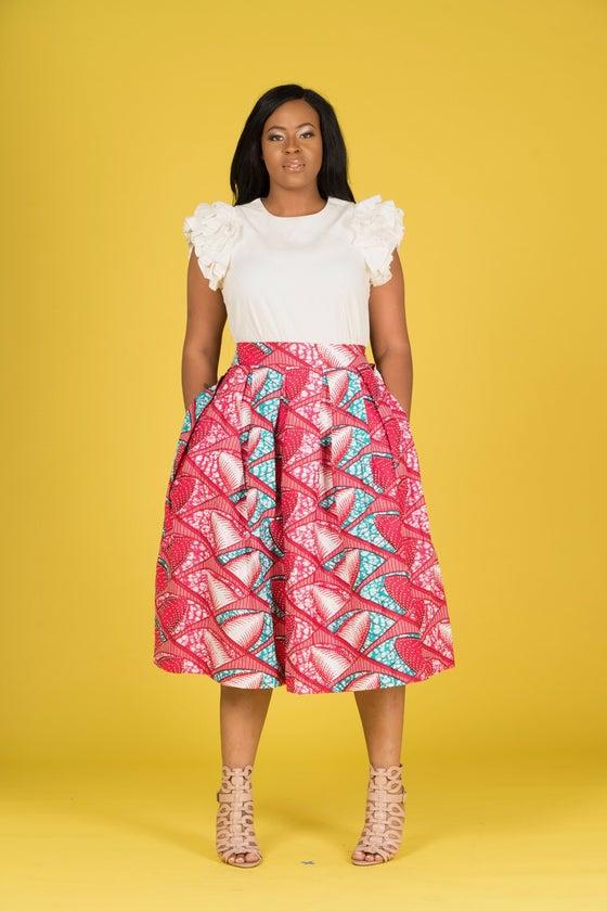 Image of Dorcas stoned Midi Skirt