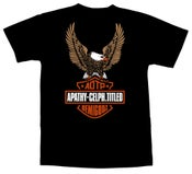Image of Apathy + Celph Titled Harley Eagle T-Shirt - Black Tee