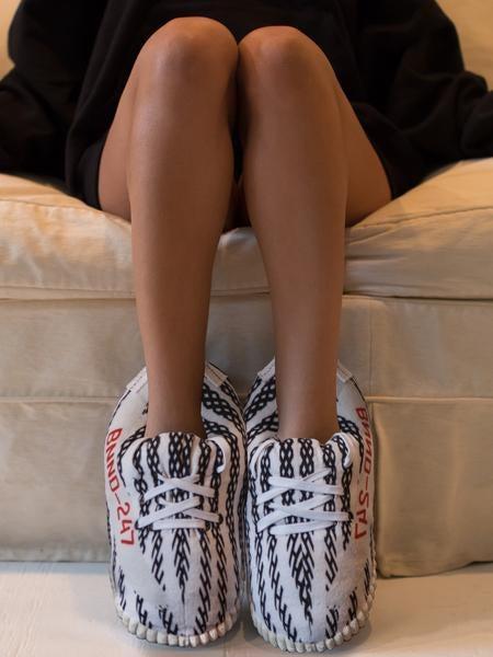 "Image of Exclusive ""YZY Zebra"" Sneaker Slippers"