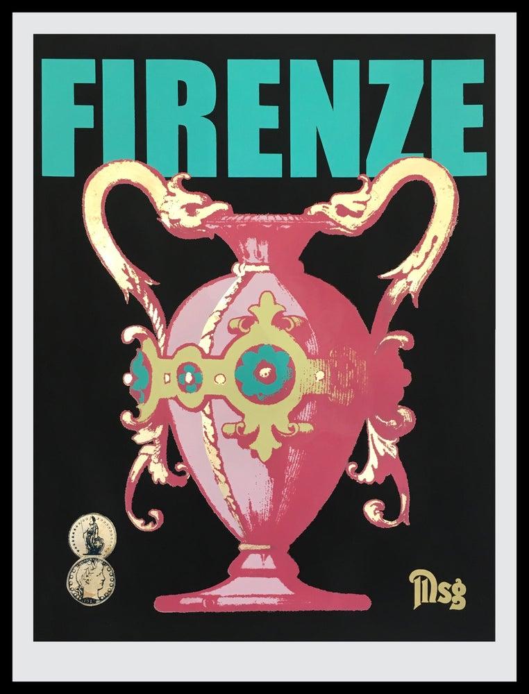 Image of Firenze Black/Aqua/Pink Tonal -In stock