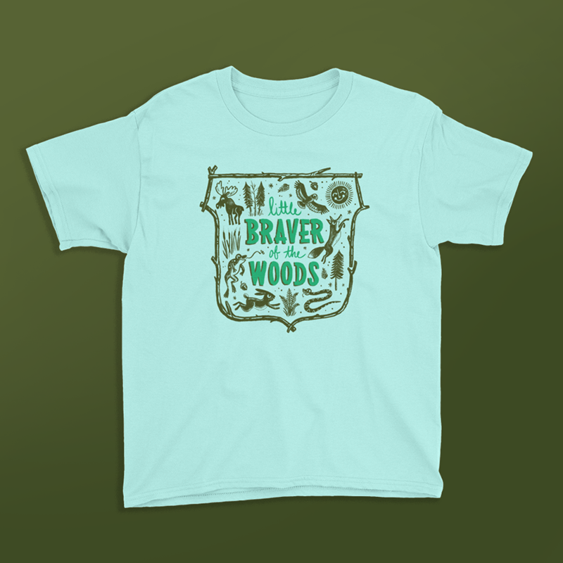 Image of Little Braver of the Woods Tee - Kid's