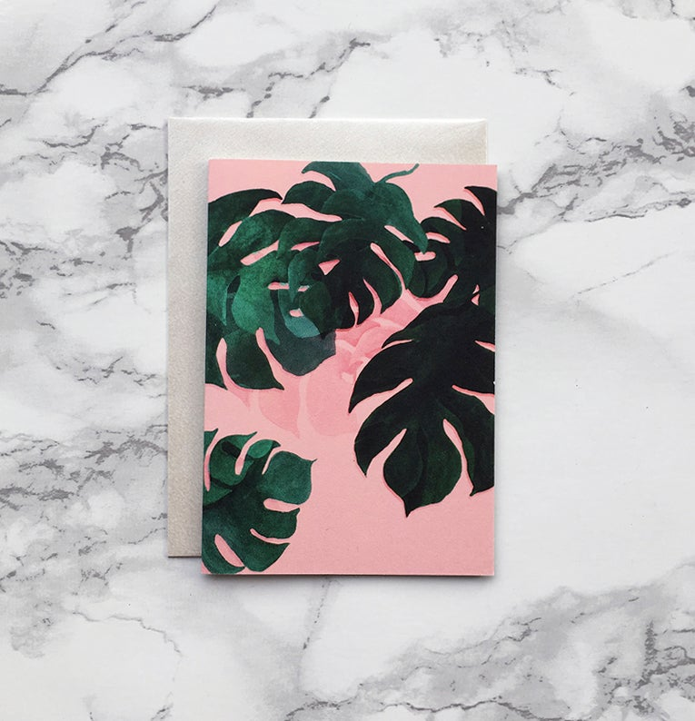 Image of Monstera - Mini greeting card