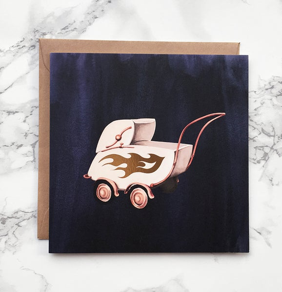 Image of Baby on Board - Large greeting card