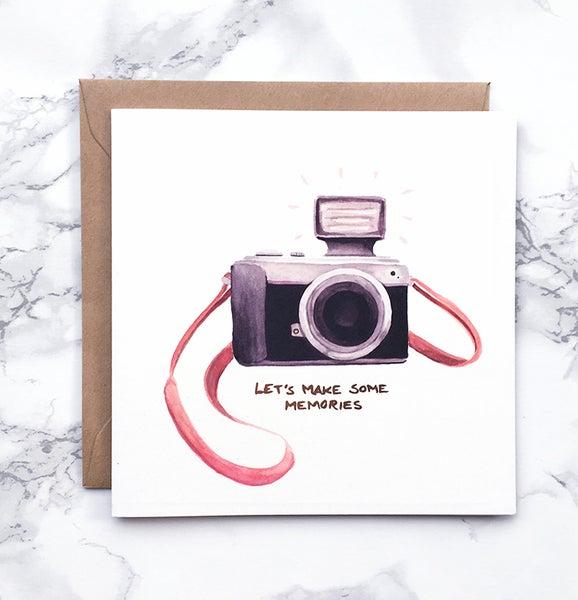 Image of Camera - Large greeting card