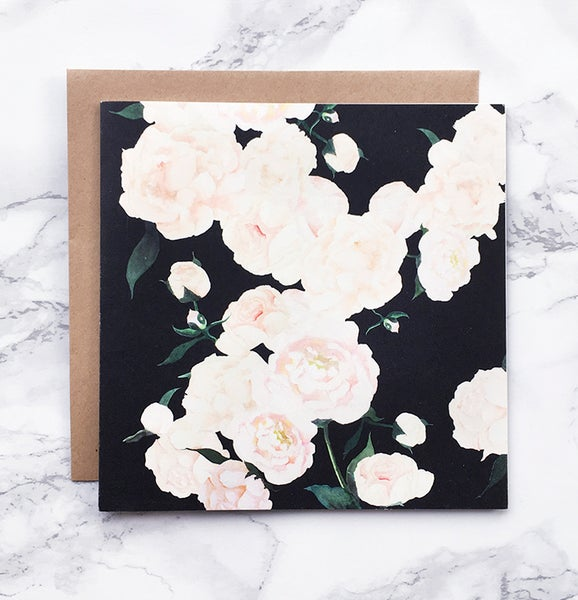 Image of White Peonies - Large greeting card