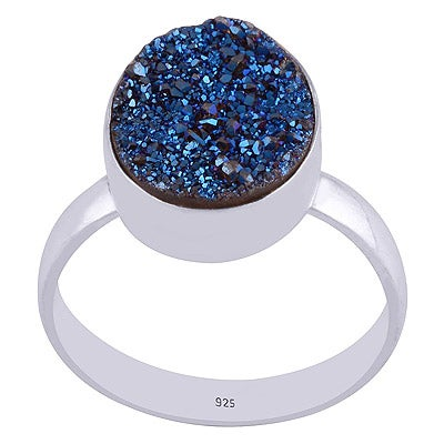 Image of Sterling Silver Enchanted Druzy Ring