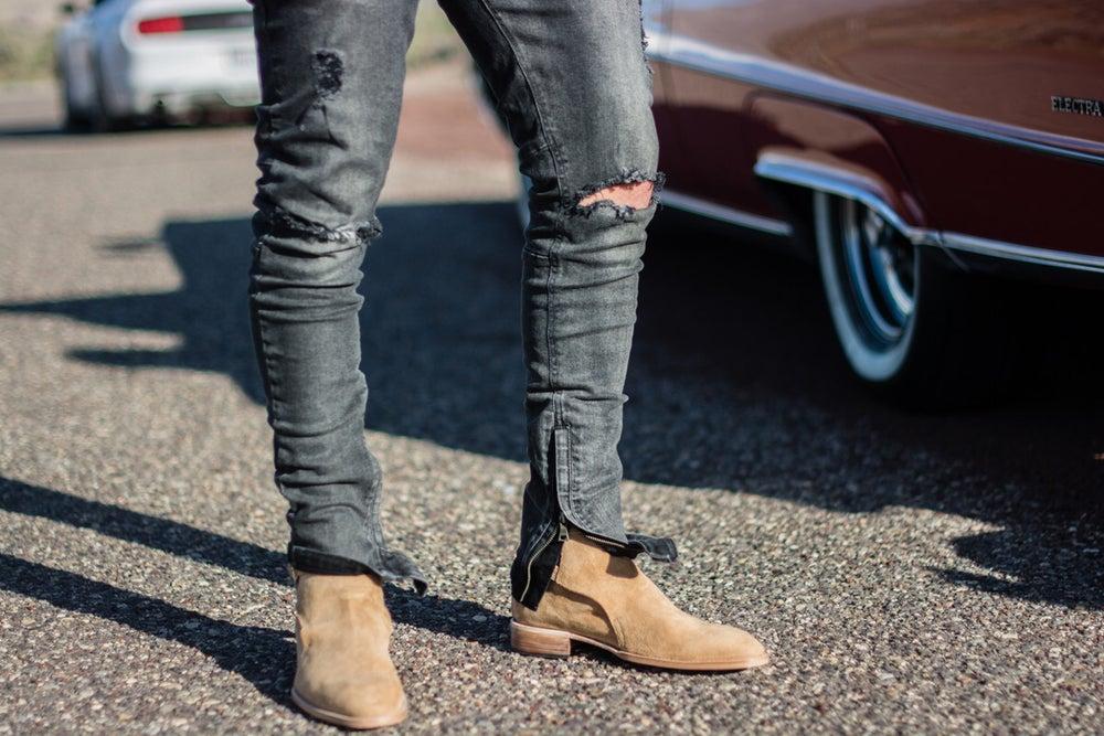Image of Allegiance Ankle Zip Denim (Charcoal)