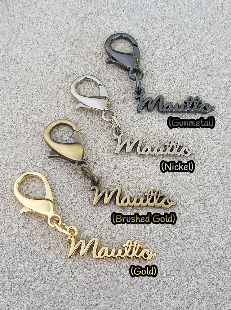 Image of Mautto Logo Charms - Accessory for Handbags, Keychains, Straps & more - Choose Your Finish