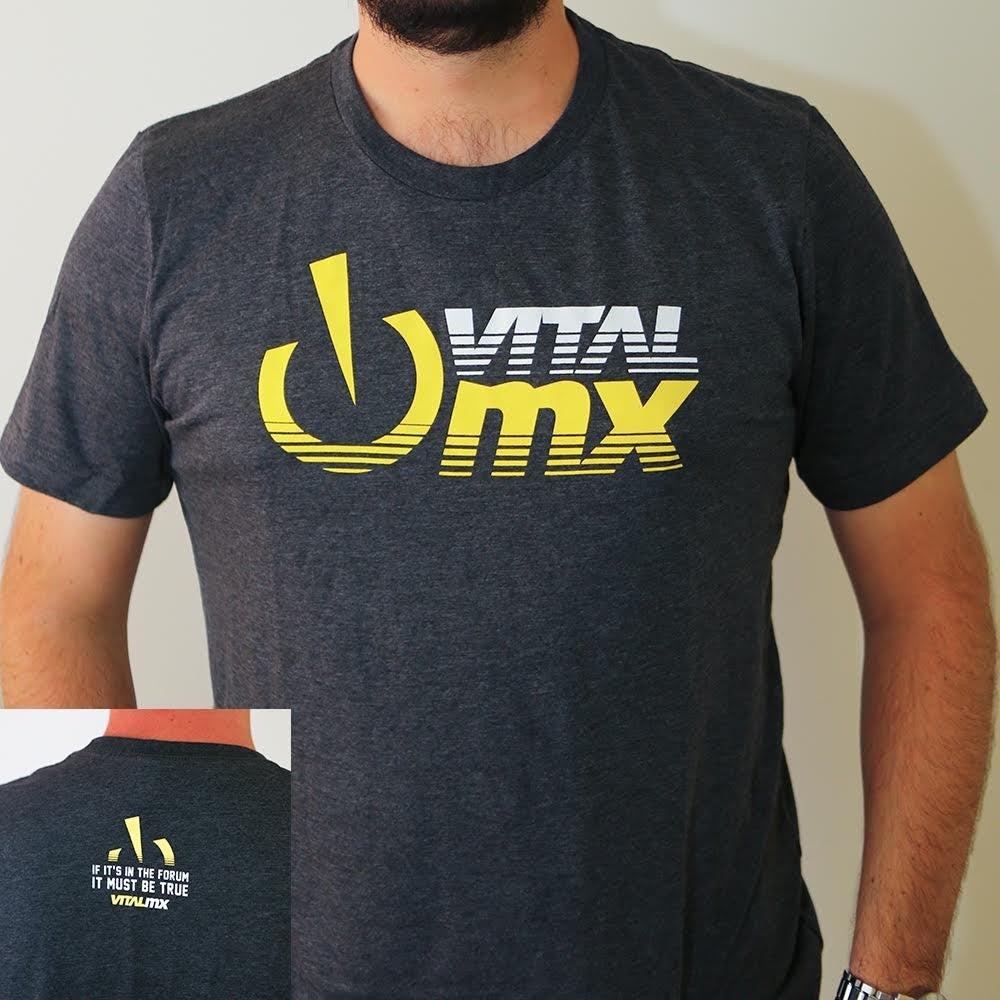 Image of Vital MX Fade Logo T-Shirt, Dark Grey Heather