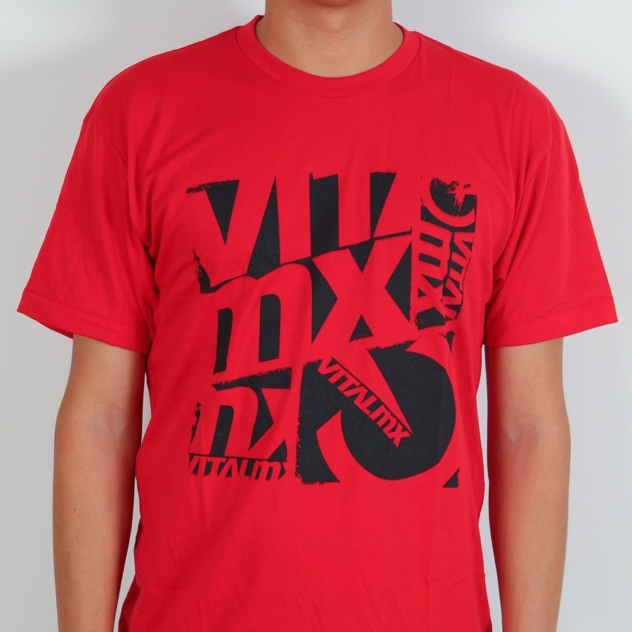 Image of Vital MX Collage T-Shirt, Red
