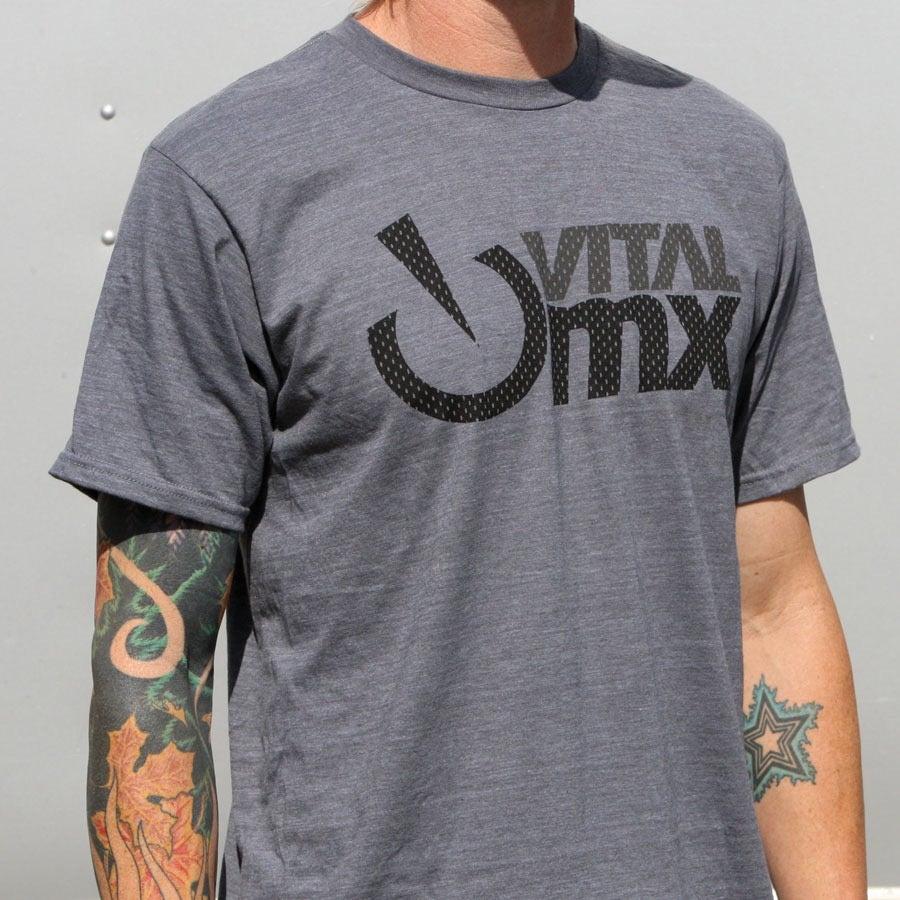 Image of Vital MX Vents Logo T-Shirt, Charcoal Heather
