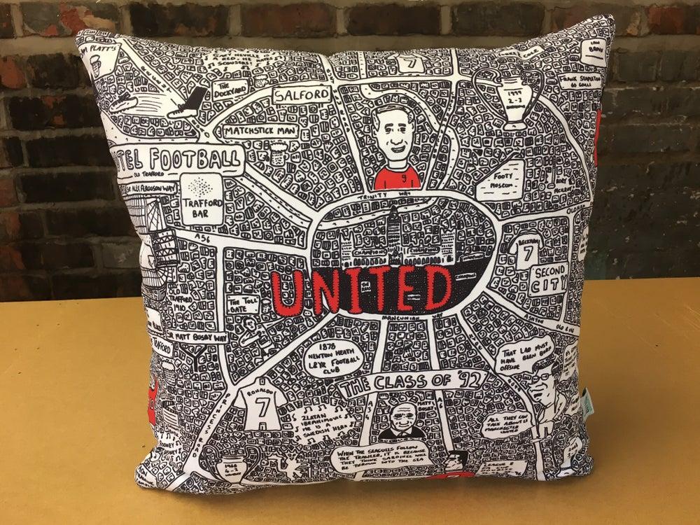 Image of United Doodle Map Cushion