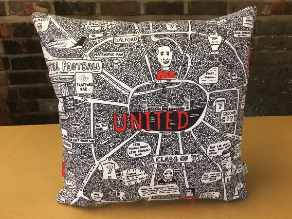 Image of United Doodle Map Cushion