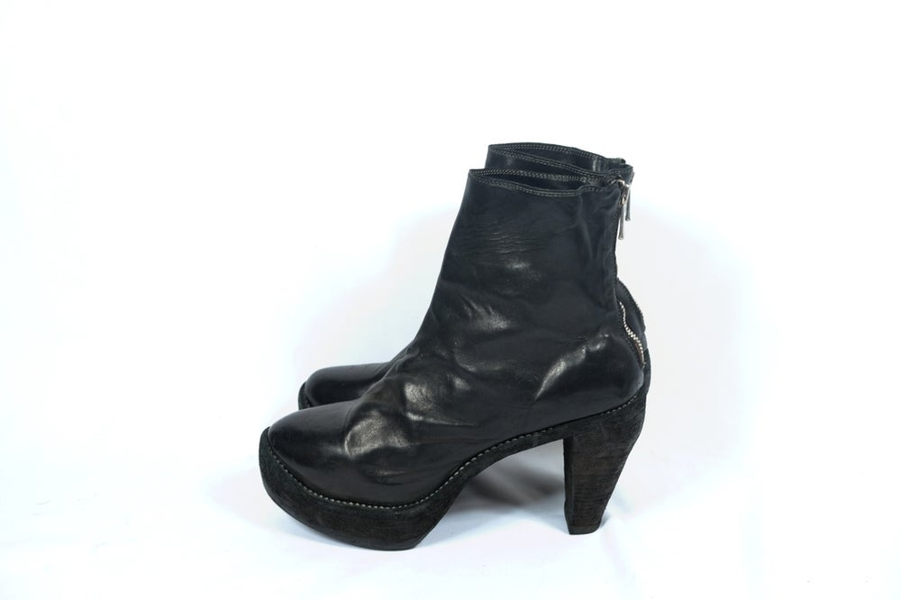 Image of Guidi 15006 Soft Horse Full Grain Back Zip High Heel Boots
