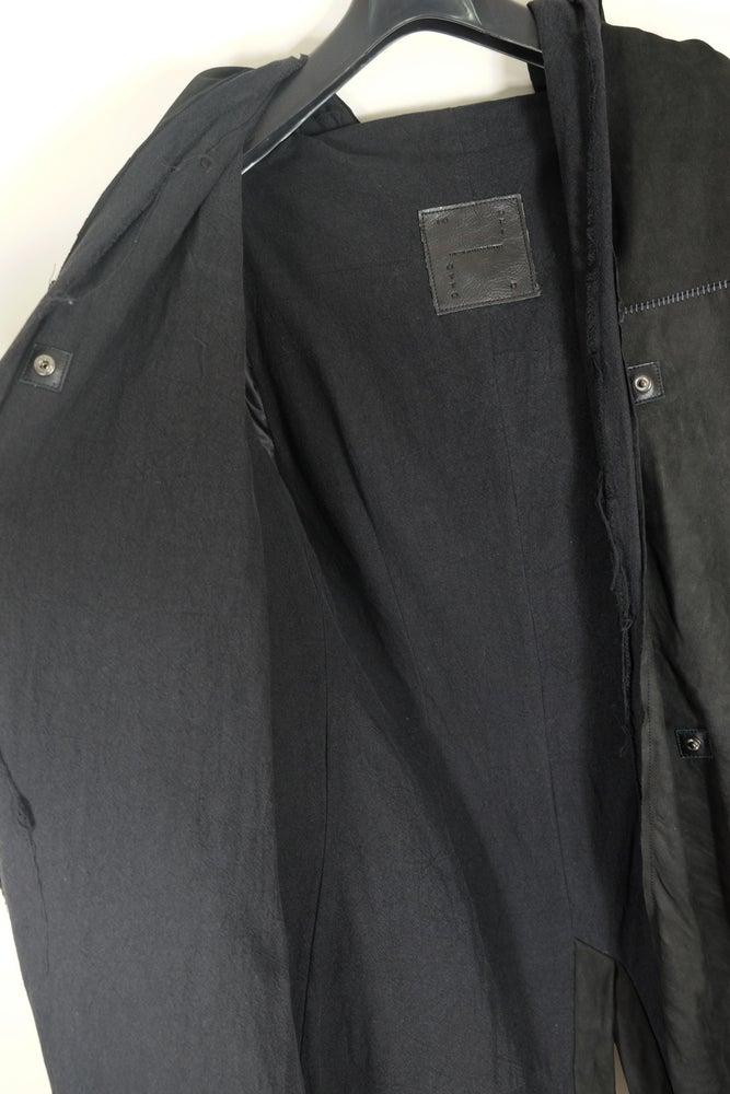 Image of 10sei0otto Leather Jacket With Overlock Stitches
