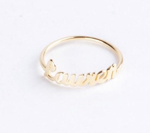 Image of Customized Name Ring