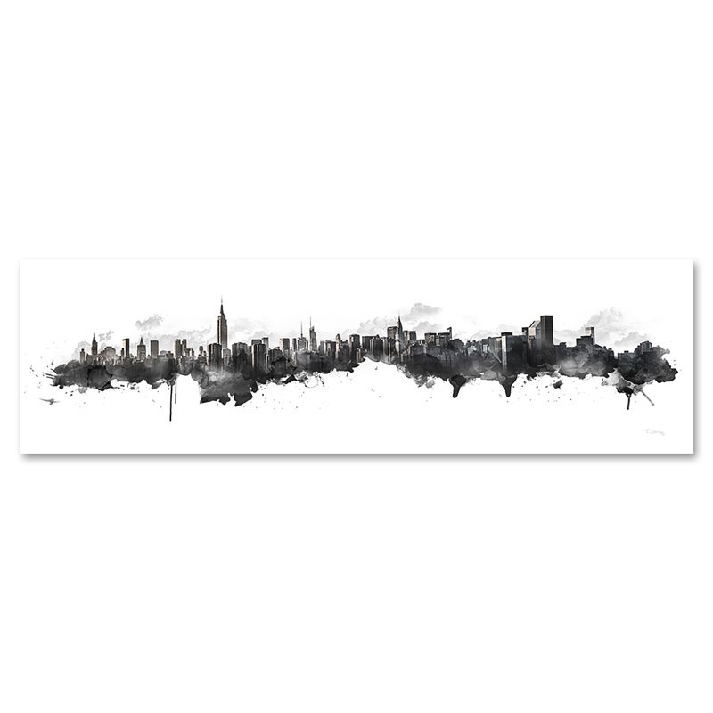 Image of New York Watercolor Skyline