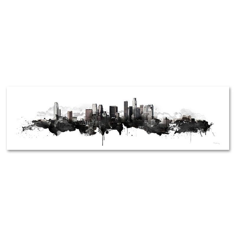 Image of Los Angeles Watercolor Skyline