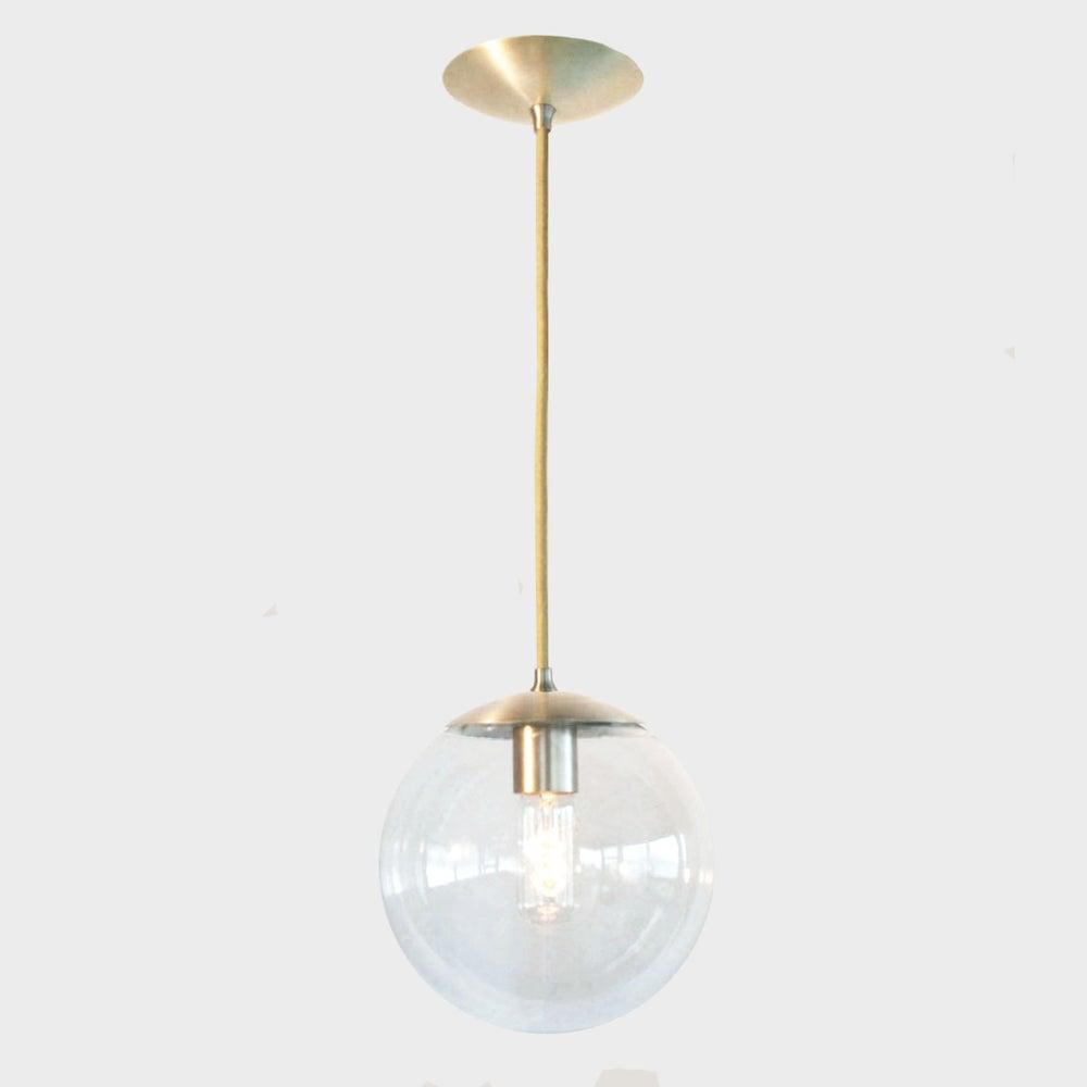 Modern Globe Pendant Lighting : Adapted for international use mid century modern clear