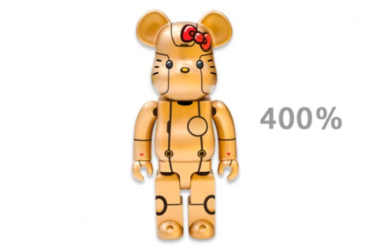 Image of Medicom Toy ROBOT KITTY Be@rbrick 400% (Gold)