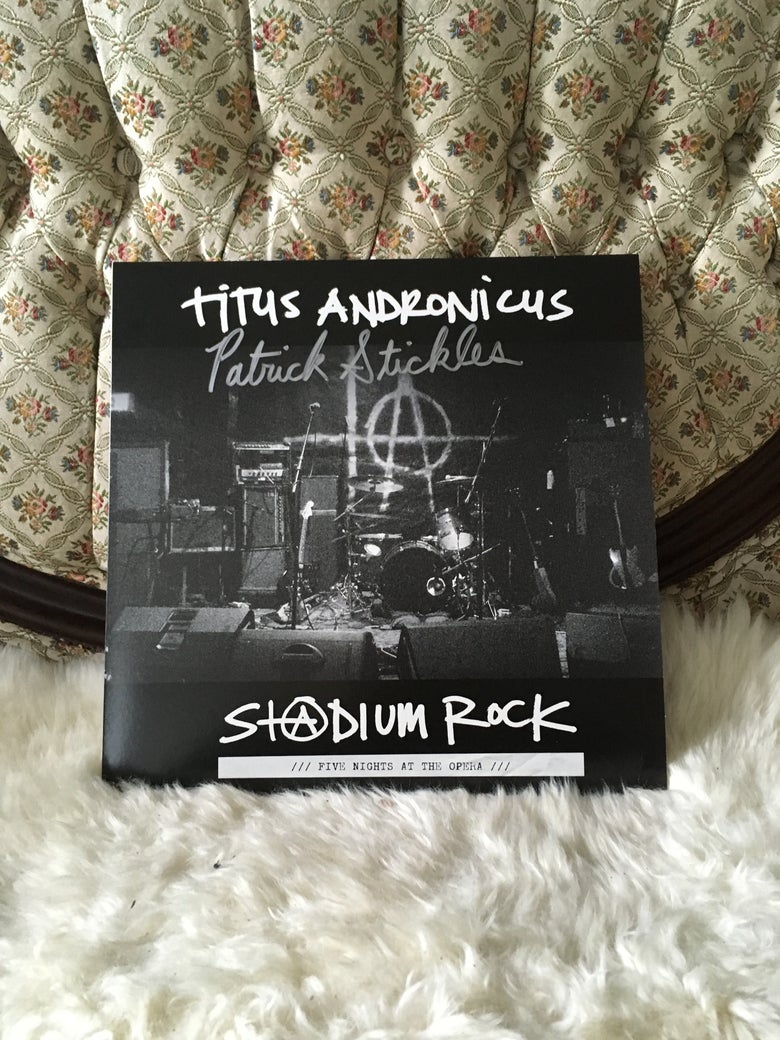"Image of BENEFIT FOR SHEA STADIUM :: 'S+@DIUM ROCK' 12"" LIVE LP *AUTOGRAPHED*"