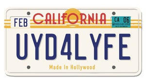 Image of CALIFORNIA PLATE STICKER