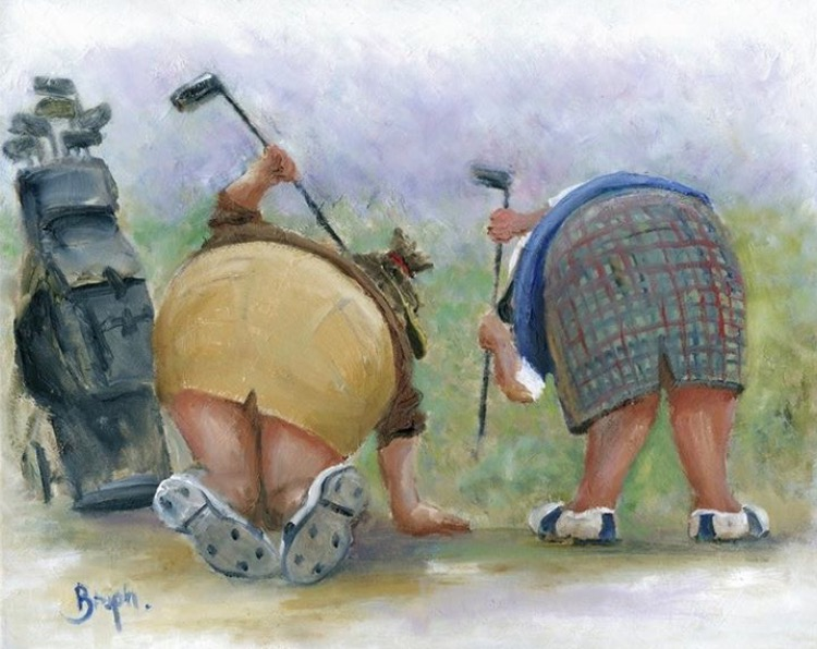 Image of Golfing Gals - Original