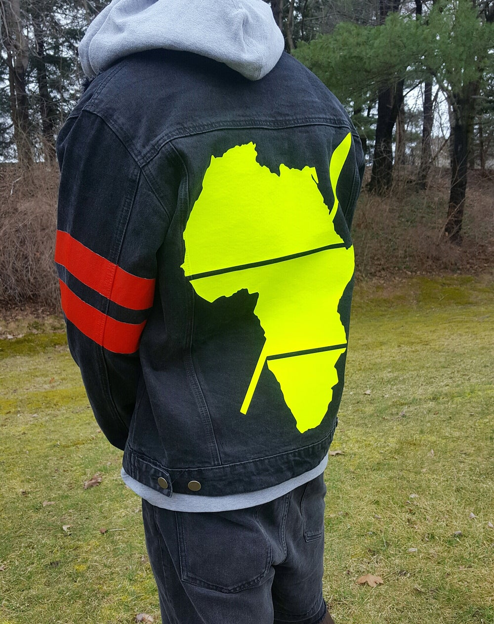 Image of PRE-ORDER CONTEMPORARY IMMIGRANT(BLACK) DENIM JACKET(UNISEX)