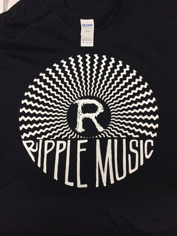 Image of Ripple Music sound waves  T-shirt (Black)