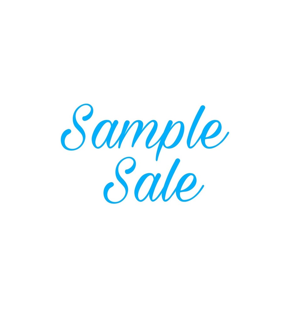 Image of Sample Sale