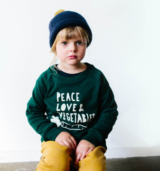Image of Peace Love and Vegetables sweater