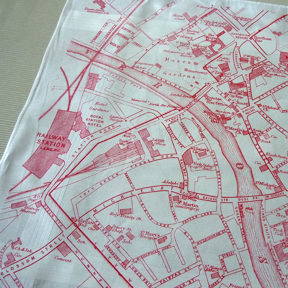 Image of York Map Hankie