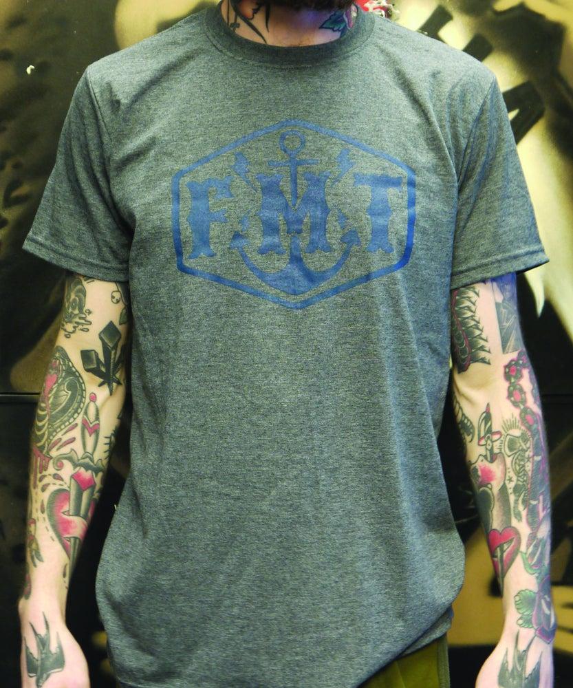 Image of FMT Logo T-Shirt Grey/Navy