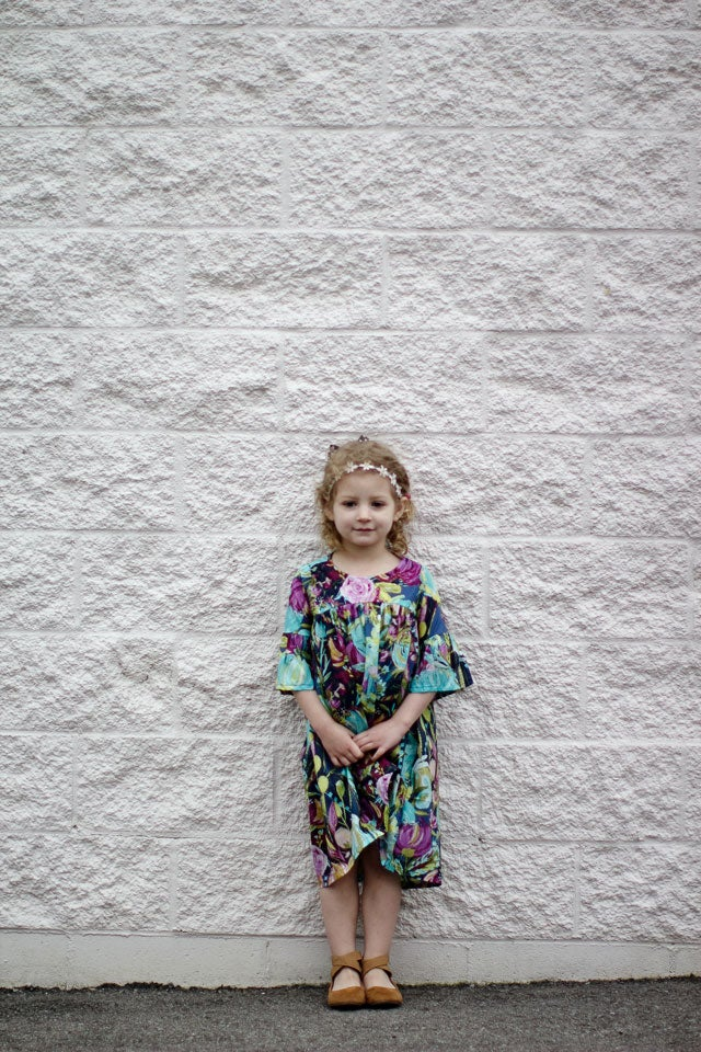 Image of the EMMA top/tunic/dress GIRL'S PDF pattern